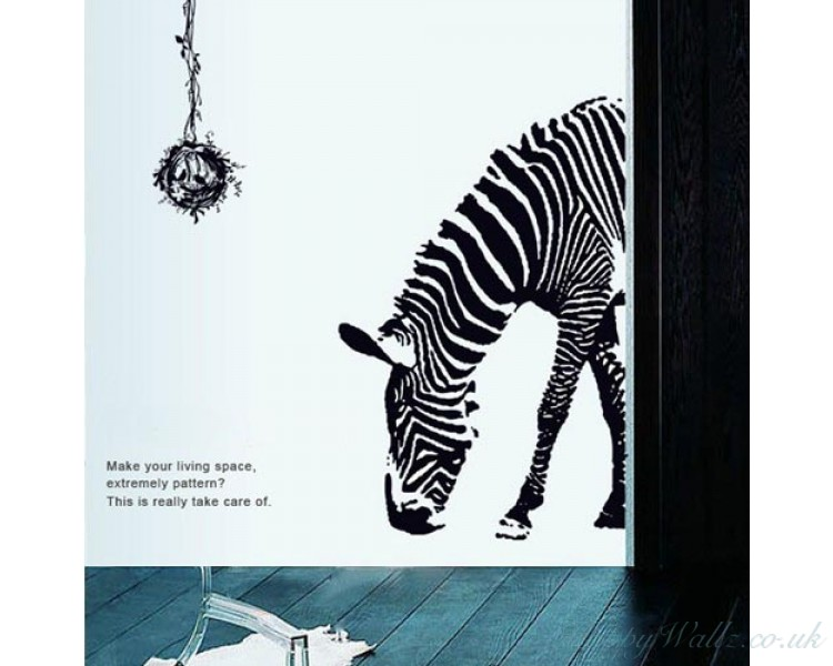 Zebra Wall Sticker Animal Wall Decals Cute Animal Stickers Home Decor Wall  Paper