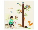 Tree Growth Chart Wall Decal Growth Chart Wall Stickers Tree Owls Mushrooms Hedgehog Lovely Colorful Stickers