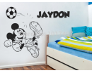 Mouse Sticker, Personalised Name With Footballs