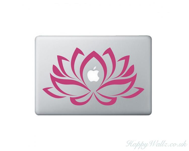 Flower Laptop Decal  - Lotus Flower Decal - Lotus Macbook Decal