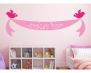 Bird Ribbon Banner with Custom Name