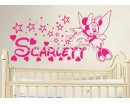 Mouse Fairy Sticker, Personalised Name With Stars