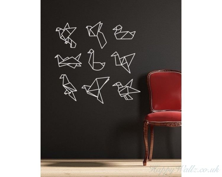 Origami Birds Vinyl Wall Decal