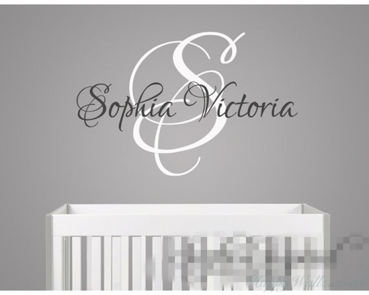 Custom name with monogram