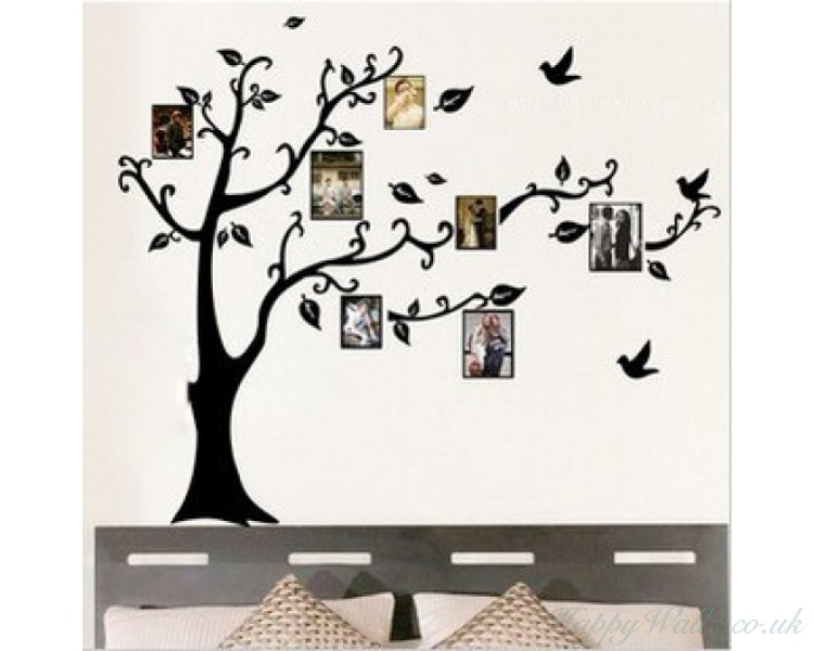 Large Family Tree Wall Decals - You can Place Photos Around the Tree