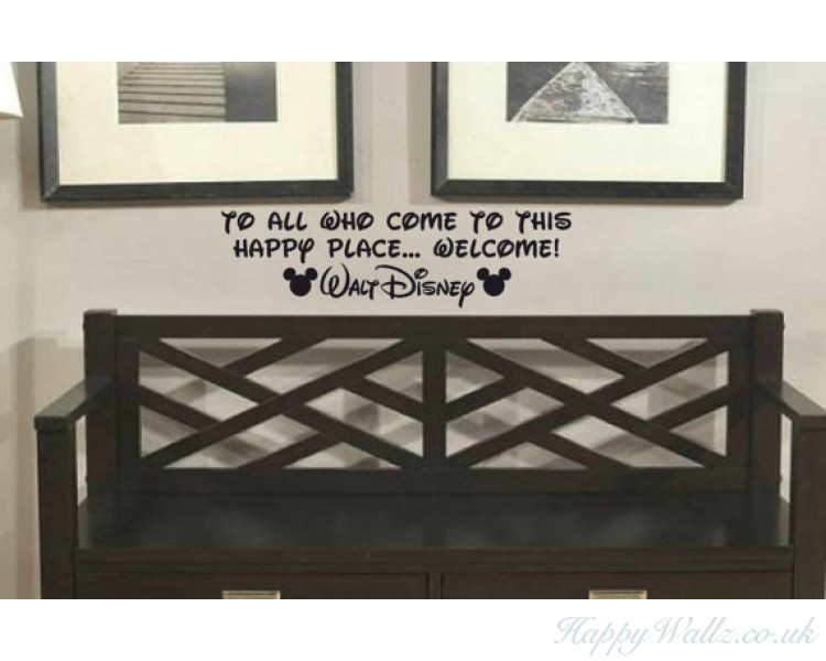 Walt Disney Welcome Quote - Name can be customised
