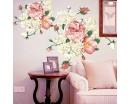 Peony Flowers Wall Decal, Peony Bouquet Flower Stickers