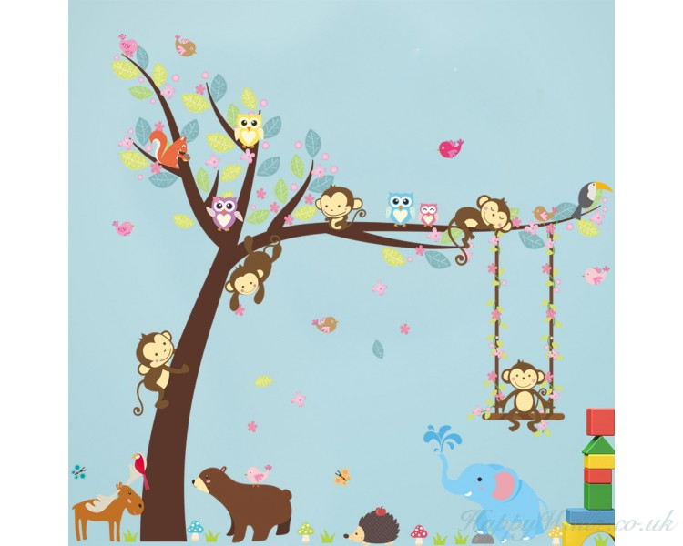 Monkey Friends Animals on the Lovely Tree