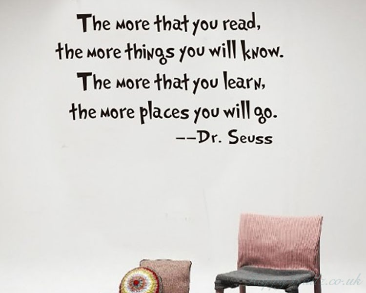 read and learn dr. seuss quotes wall decal motivational vinyl art