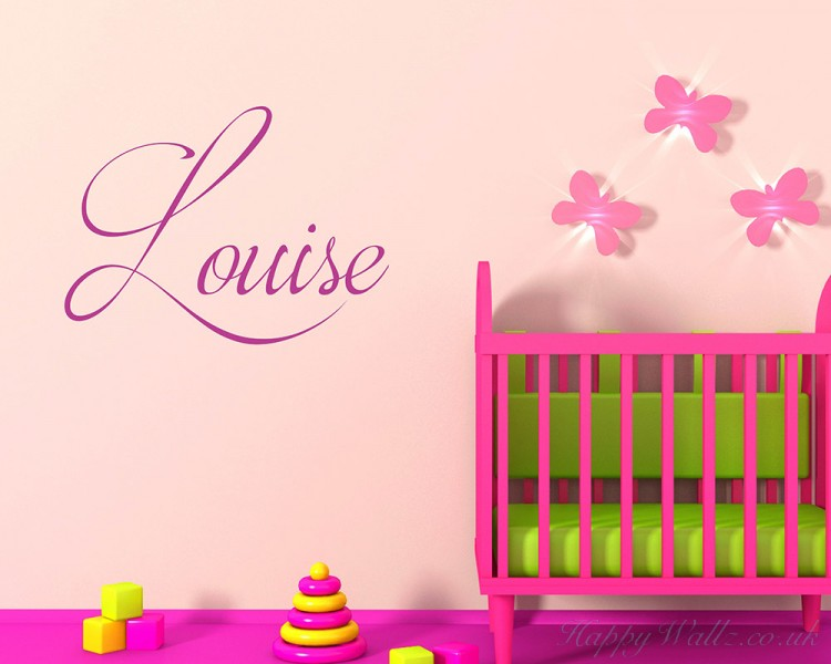 Personalised Childrens Name Wall Decal Girls Name Boys Name - Baby name wall decals