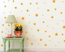 Gold Stars Decal Set, Gold Confetti Stars - 129 Stars