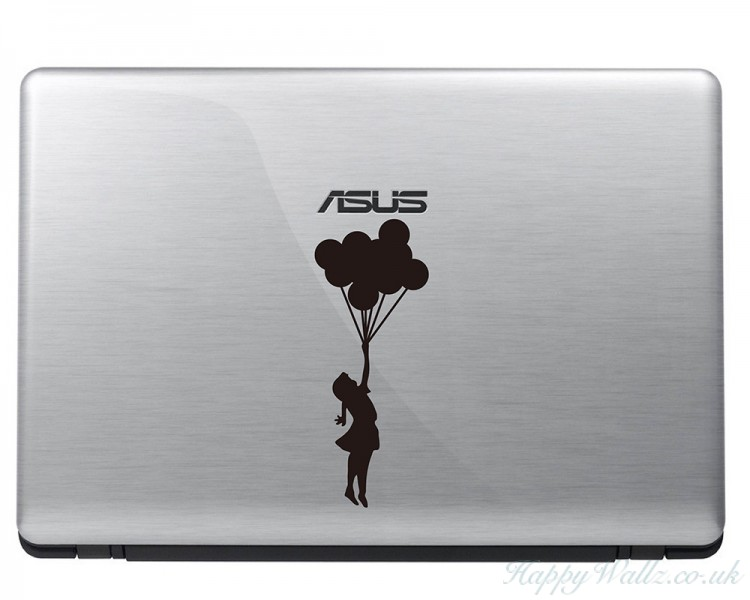 Banksy Girl With Balloons Mac Decal  - Mac 11 13 15 15 Inch