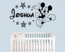Mouse Sticker, Personalized Name With Stars