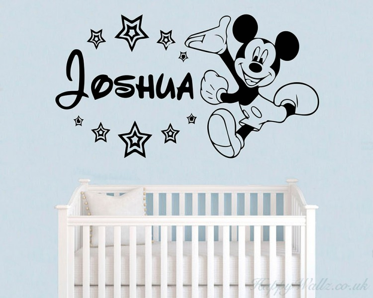 Mouse Sticker, Personalised Name With Stars