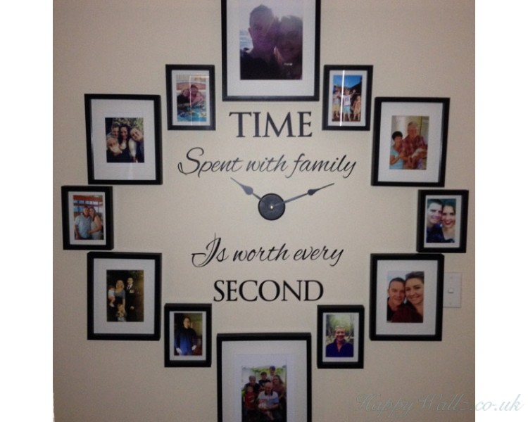 time spent with family, is worth every secondfamily quotes wall art