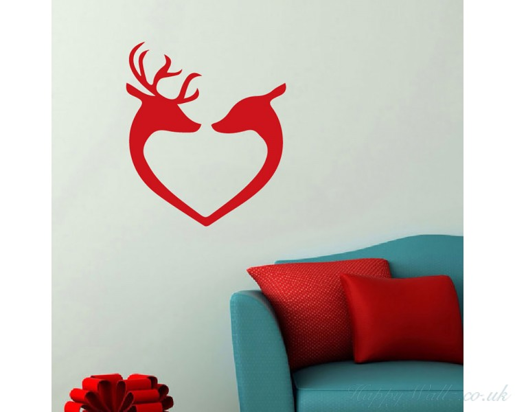 Wall Decal, Reindeer Heads, Christmas Decals, Xmas Stickers, Xmas Baubles  Christmas Wall Stickers, Fun Christmas Decals Part 78