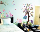 Jungle Zoo Animal Friends Kids Wall Decals Nursery Vinyl Sticker