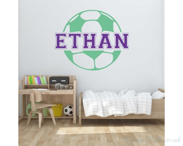 customized football kids name wall decal name wall sticker