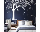 Maple Tree-Tree Leaves Birds Wall Decal for Bedroom, Office & Vinyl Birds Leaves Tree Wall Decal