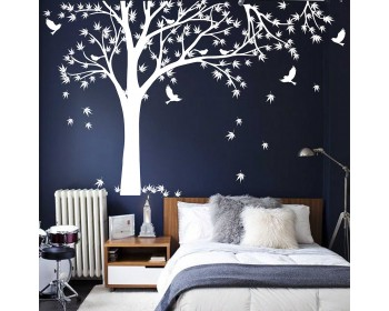 Maple Tree Tree Leaves Birds Wall Decal For Bedroom, Office U0026 Vinyl Birds  Leaves