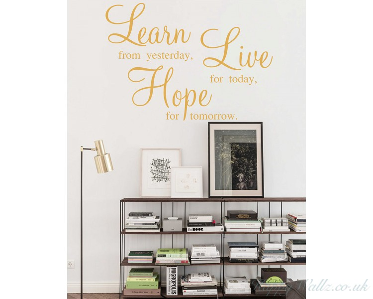learn live hope wall stickers - quotes vinyl office wall art