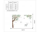 Corner Tree and Deer Decal-Tree Nursery Wall Art