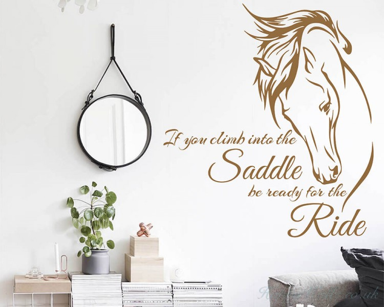 inspiring Quote with Stylized Horse