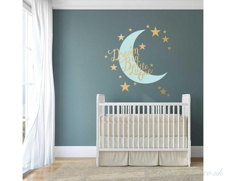 00350592b Dream Big Little One - Nursery Wall Decal