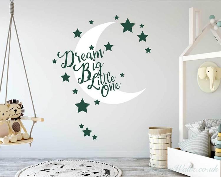 dream big little one - nursery wall decal
