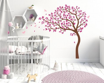 Large Tree Decal With Birds