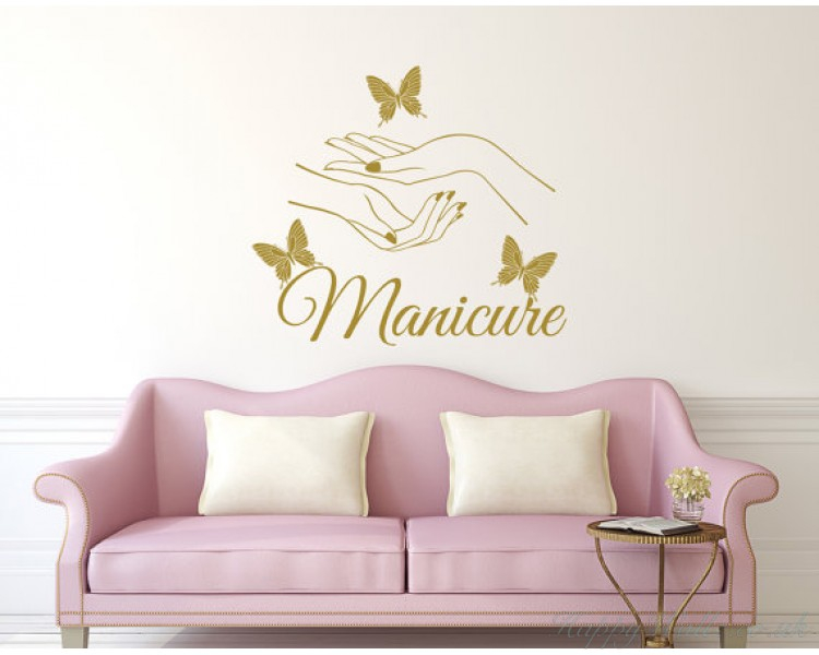 Manicure Wall Decal - Beauty Salon Nail Art
