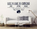Life Is Like A Camera Wall Decal - Inspirational Wall Quote