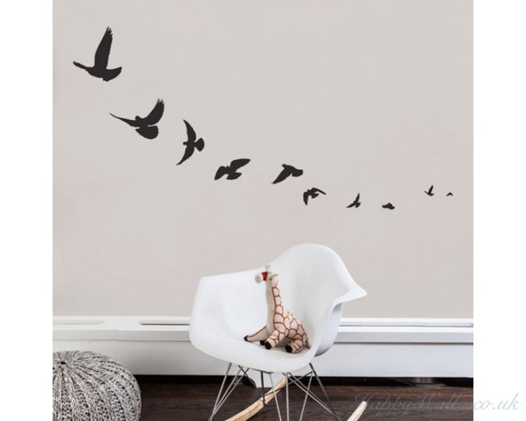 Flying Birds Decal Lovely Animal  Wall Stickers