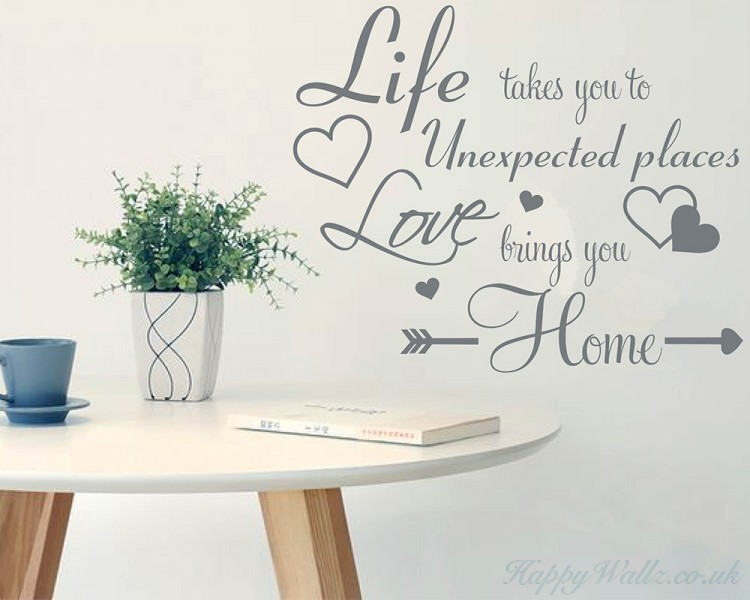 Love Brings You Home Quote Decal Love Wall Quotes Decal For Living