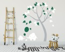 Nursery Tree Decal with Elephants