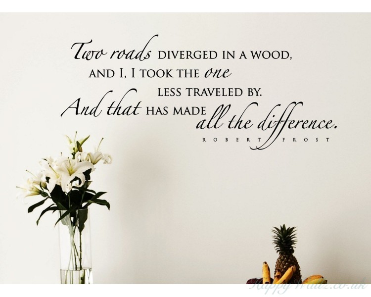 Robert Frost Quote Wall Decal-Inspiring Wall Quote