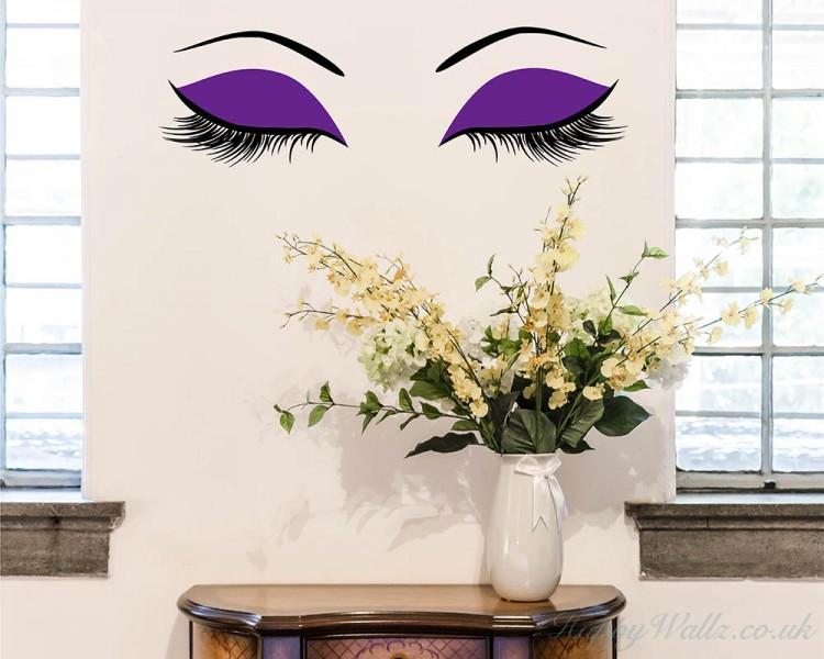 Eyelashes - Girl Woman Face Make Up Fashion Love,Vinyl Wall Art ...