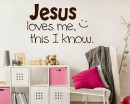 Jesus Loves Me Quotes Nursery Wall Art Stickers