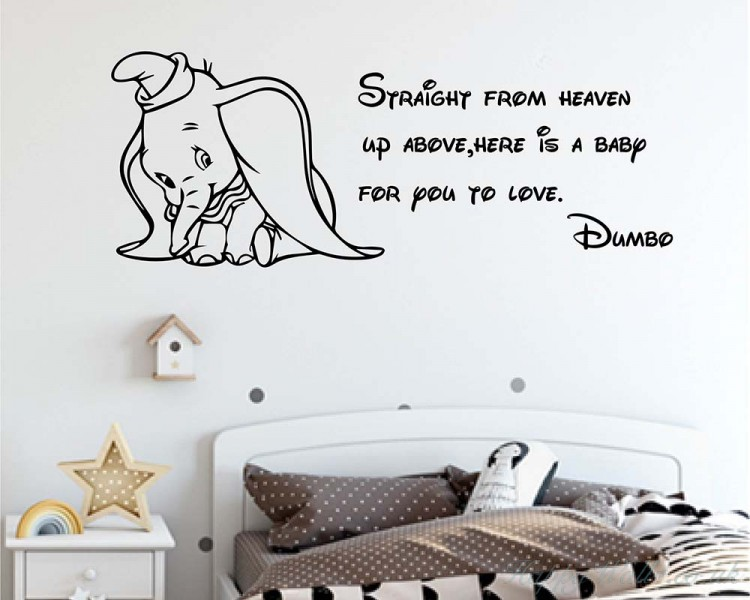 Straight From Heaven Up Above Here Is A Baby For You To Love-Dumbo Quote Wall Decal