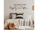 And They Lived Happily Ever After Wall Decal - Bedroom  Love Vinyl Wall Quote, Wedding Gift