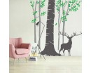 Tree Forest Wall Decals-Woodland Design with Animals Decal