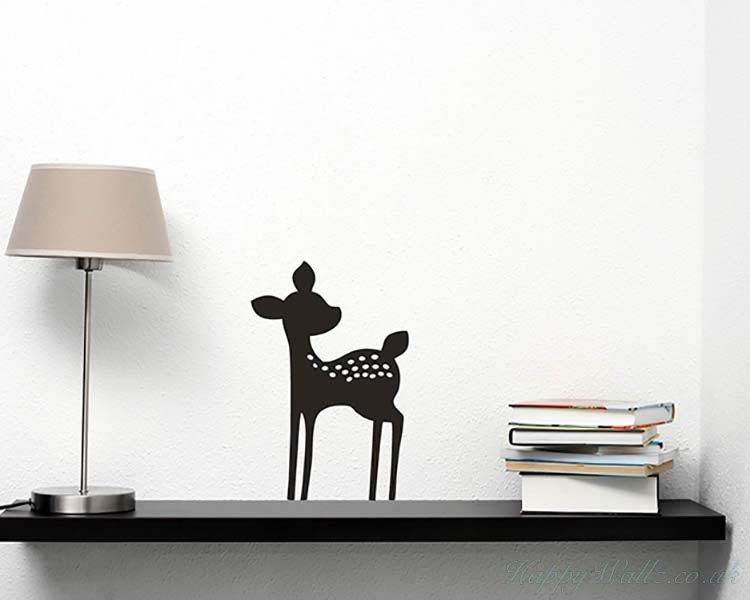 Fawn Deer Wall Decal  For Nursery