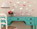 Flowers Butterflies  Wall Art Decals