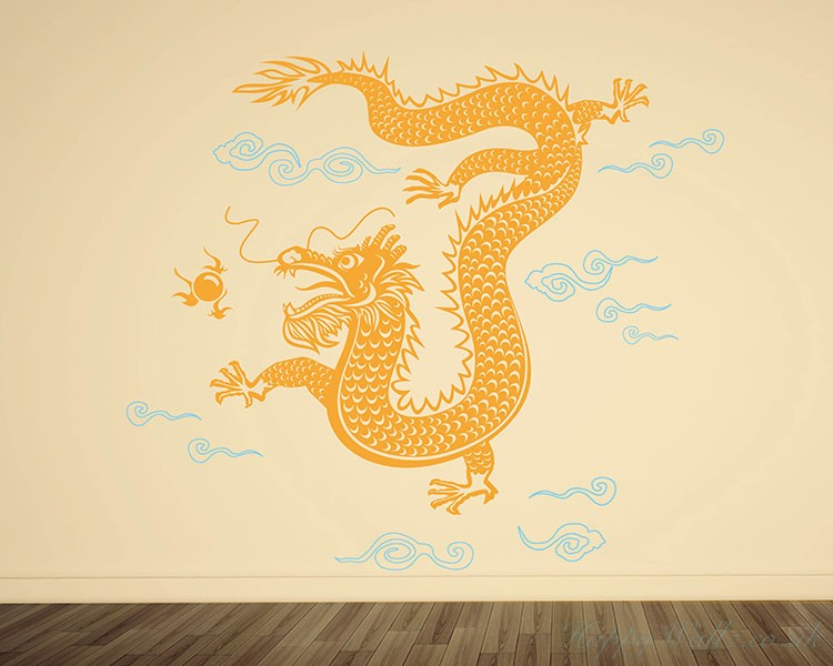 Dragon Wall Decal Chinese Style