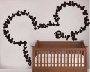 Lovely Mouse Customised Name Decal For Nursery