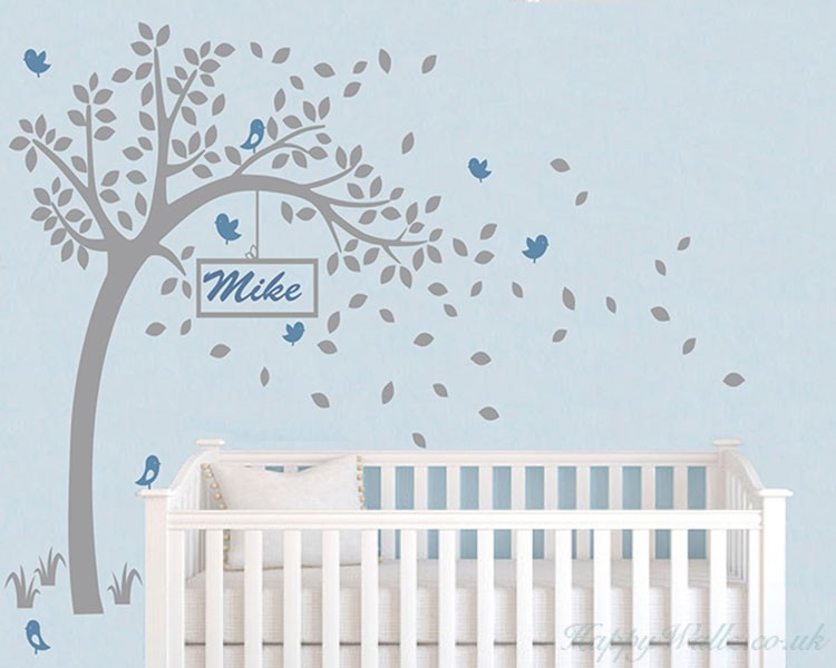 Tree Wall Decal with Customised Name Frame