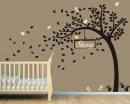 Nursery Tree Wall Decal with Customised Name Frame