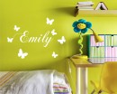Butterflies Customised Name Decal