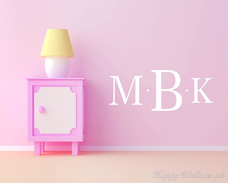 Customised Initials Name Monogram Wall Decals