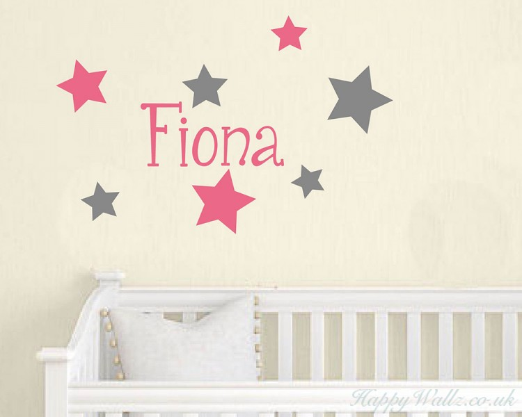 Stars Customised Name Decal